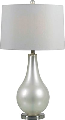 Kenroy Home Teardrop Table Lamp, Pearlized White Finish