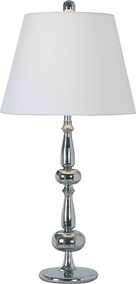 Kenroy Home Amsterdam Table Lamp, Chrome Finish