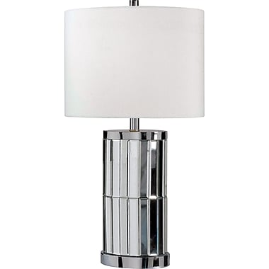 Kenroy Home Lustre Table Lamp, Chrome Mirror Finish