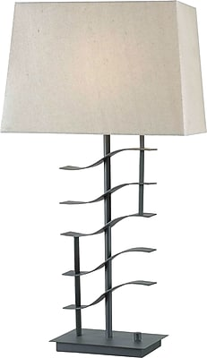 Kenroy Home Flume Table Lamp, Graphite Finish