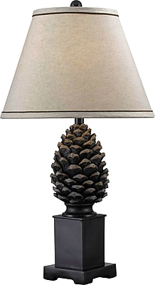 Kenroy Home Spruce Table Lamp, Aged Bronze Finish
