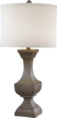 Kenroy Home Brookfield Table Lamp, Driftwood Finish
