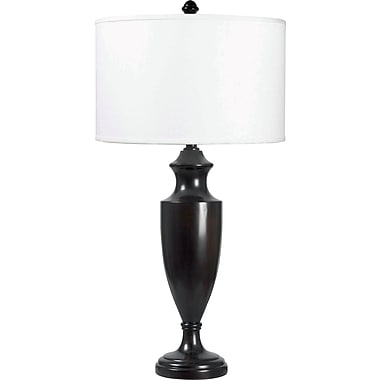 Kenroy Home Lathe Table Lamp, Madera Bronze Finish