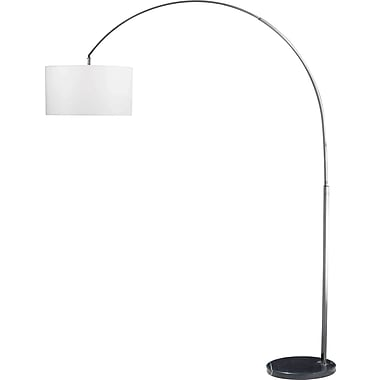 Kenroy Home Bolen Arc Lamp, Brushed Steel Finish