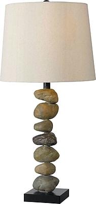 Kenroy Home Rubble Table Lamp, Stone Finish