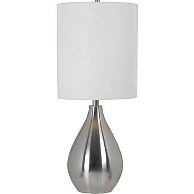 Kenroy Home Droplet Table Lamp, Brushed Steel Finish