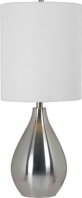 Kenroy Home Droplet Table Lamp, Brushed Steel Finish