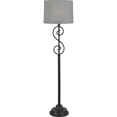 Kenroy Home Clifford Outdoor Floor Lamp, Forged Graphite Finish