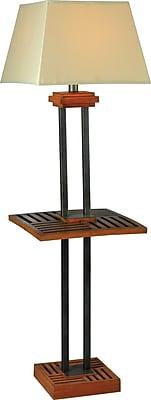 Kenroy Home Hadley Outdoor Floor Lamp, Cherrywood and Grey Finish