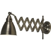 Kenroy Home Floren Wall Swing Arm Lamp, Antique Nickel Finish