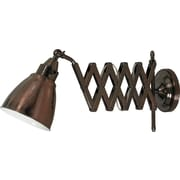 Kenroy Home Floren Wall Swing Arm Lamp, Copper Bronze Finish