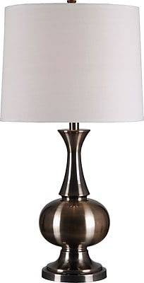Kenroy Home Harriet Table Lamp, Antique Brass Finish