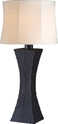 Kenroy Home Weaver Outdoor Table Lamp, Bronze Finish
