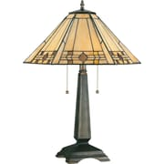 Kenroy Home Willow Table Lamp, Bronze Finish