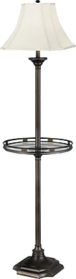 Kenroy Home Wentworth Gallery Floor Lamp, Burnished Bronze Finish