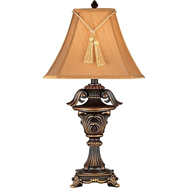 Kenroy Home Rowan Table Lamp, Metallic Bronze Finish with Copper Penny Accents