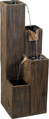 Kenroy Home Timber Indoor/Outdoor Floor Fountain, Wood Grain Finish 149404