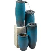 Kenroy Home Agua Indoor/Outdoor Floor Fountain, Blue Glaze Finish