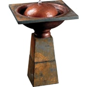Kenroy Home Cauldron Birdbath Fountain, Slate Finish