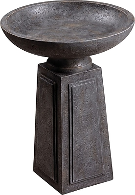 Kenroy Home Podium Birdbath, Concrete Finish