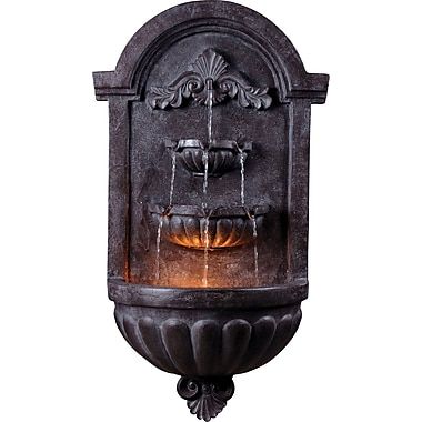 Kenroy Home San Marco Wall Fountain, Plum Bronze Finish