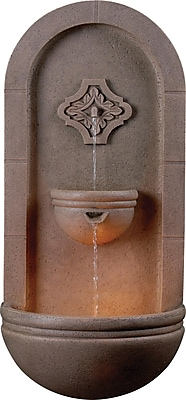 Kenroy Home Galway Wall Fountain, Coquina Finish