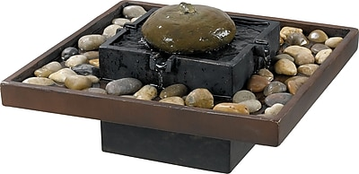 Kenroy Home Bliss Indoor Table Fountain, Two Toned Bronze Finish
