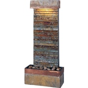 Kenroy Home Tacora Horizontal Fountain, Natural Slate Finish with Copper Accents