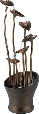 Kenroy Home Leaves Floor Fountain, Aged Copper Bronze Finish