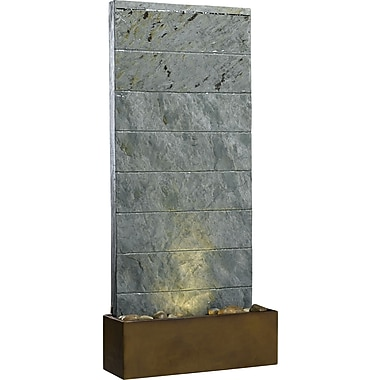 Kenroy Home Brook Table Fountain, Natural Slate Finish