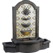 Kenroy Home Cascada Floor Fountain, Madrid Finish with Pattered Tile Motif