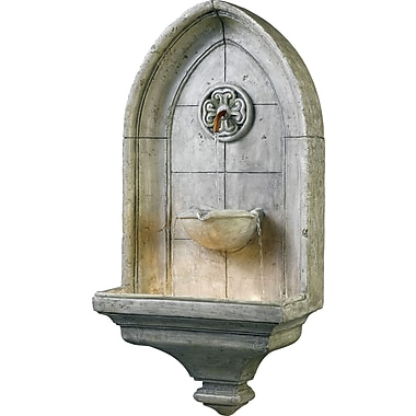 Kenroy Home Canterbury Wall Fountain, Cement Finish