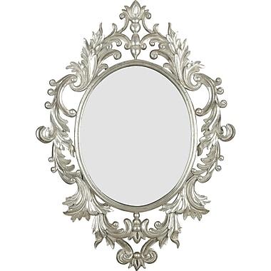 Kenroy Home Louis Wall Mirror, Silver Leaf Finish