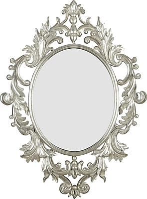 Kenroy Home Louis Wall Mirror, Silver Leaf Finish
