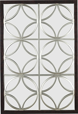 Kenroy Home Gable Wall Mirror, Walnut with Silver Trellis Finish