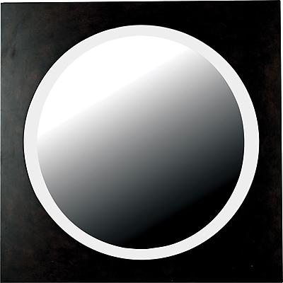 Kenroy Home Eclipse Wall Mirror, Dark Walnut Finish