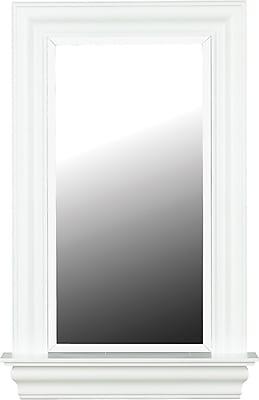 Kenroy Home Juliet Wall Mirror, White Gloss Finish