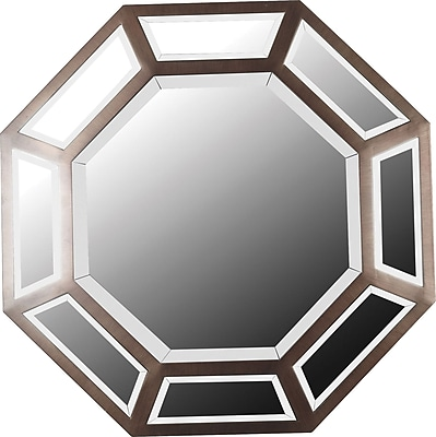 Kenroy Home Saunders Wall Mirror, Antique Bronze Finish