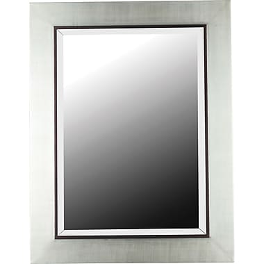 Kenroy Home Dolores Wall Mirror, Silver with Black Trim Accent Finish
