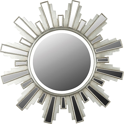 Kenroy Home Francisco Wall Mirror, Antique Silver Finish