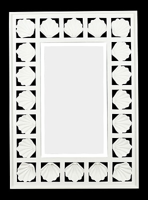 Kenroy Home Seabreeze Wall Mirror, Antique White Finish