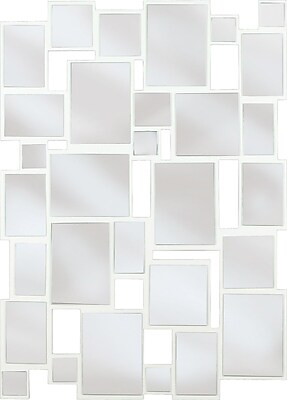 Kenroy Home Hockney Wall Mirror, Gloss White Finish
