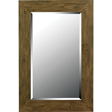 Kenroy Home Eureka Wall Mirror, Dark Wood Grain Finish
