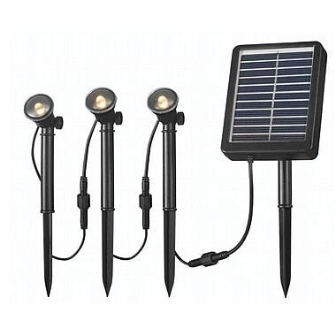 Kenroy Home 3 Light Solar Spotlight String, Black Finish