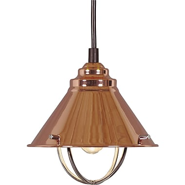 Kenroy Home Harbour 1 Light Mini Pendant, Copper Finish