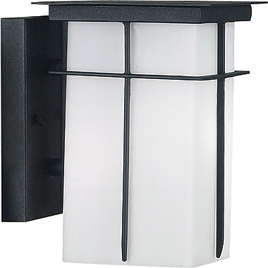 Kenroy Home Mesa 1 Light Small Wall Lantern, Textured Black Finish