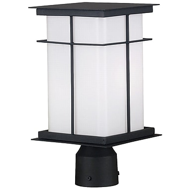 Kenroy Home Mesa 1 Light Medium Post Lantern, Textured Black Finish