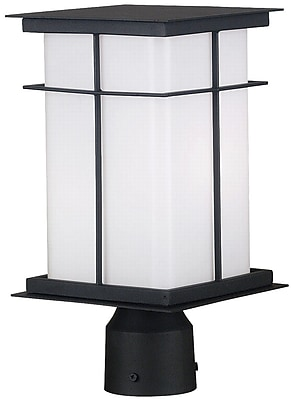 Kenroy Home Mesa 1 Light Medium Post Lantern, Textured Black Finish