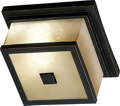 Kenroy Home Plateau 2 Light Flush Mount, Oil Rubbed Bronze Finish