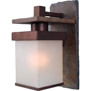 Kenroy Home Boulder 1 Light Small Wall Lantern, Natural Slate with Copper Finish